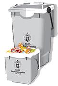 Silver Food Caddy and Bin